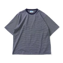 Powderhorn Mountaineering / P.H. M.Micro Stripe Tee マイクロボーダーTシャツ PH21SS-005 - Navy/White