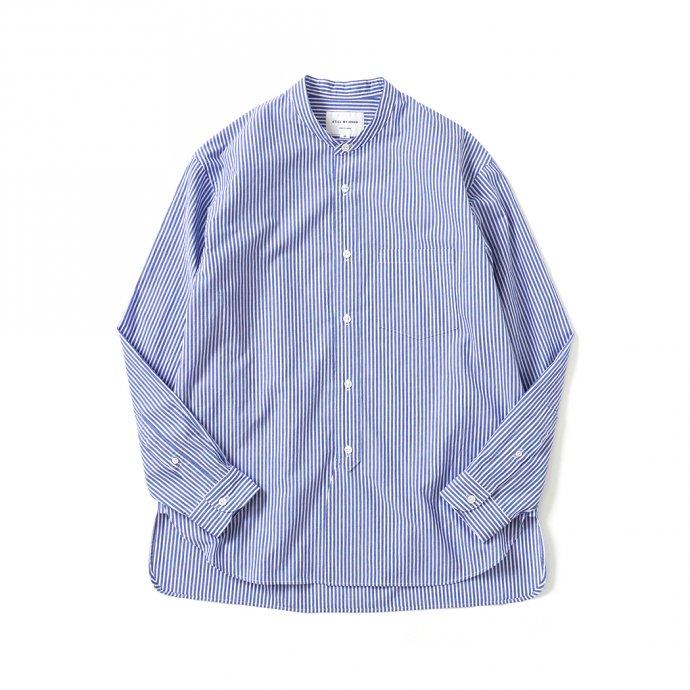 159256601 STILL BY HAND / SH02212 バンドカラーシャツ - Blue Stripe 01
