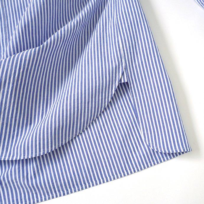 159256601 STILL BY HAND / SH02212 バンドカラーシャツ - Blue Stripe 02