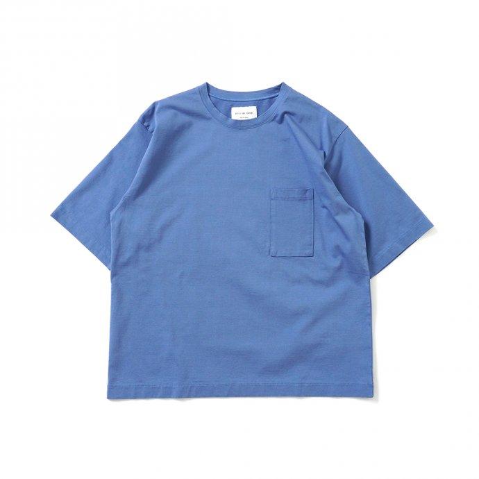 159257103 STILL BY HAND / CS02212 グラスポケットTシャツ - Blue 01