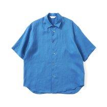 STILL BY HAND / SH04212 ラミー素材 半袖シャツ - Blue