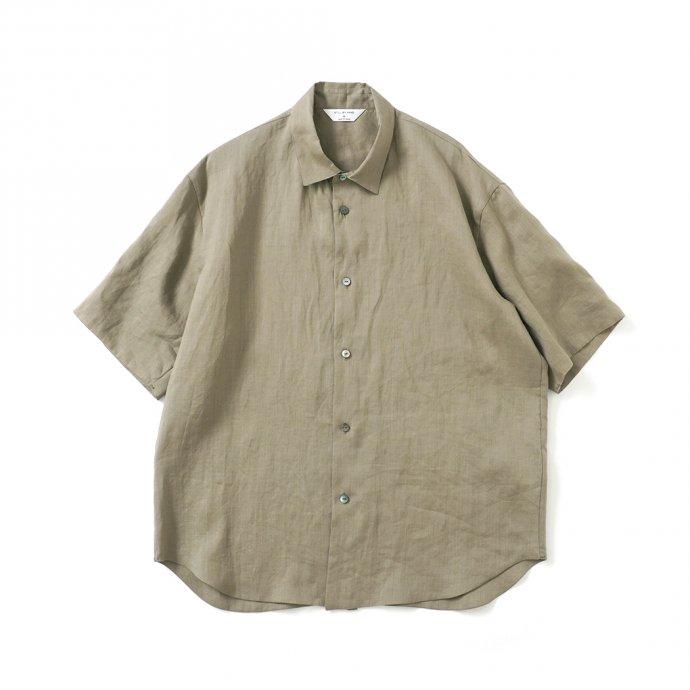 159257237 STILL BY HAND / SH04212 ラミー素材 半袖シャツ - Olive 01