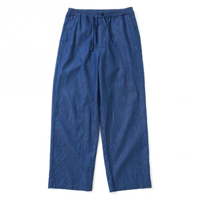 159523617 STILL BY HAND / PT03212 キュプラウール混デニム パジャマパンツ - Blue 01