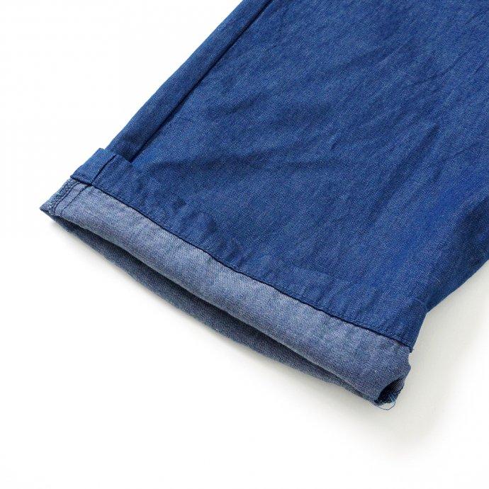 159523617 STILL BY HAND / PT03212 キュプラウール混デニム パジャマパンツ - Blue 02