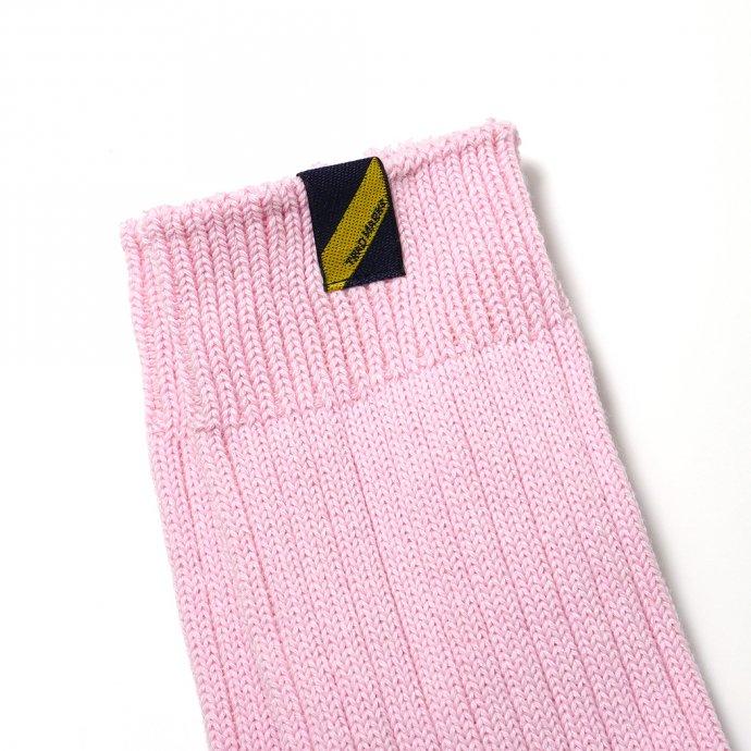 160476151 Trad Marks / Old Rib Socks lite オールドリブソックスライト - Baby Pink ベビーピンク 02