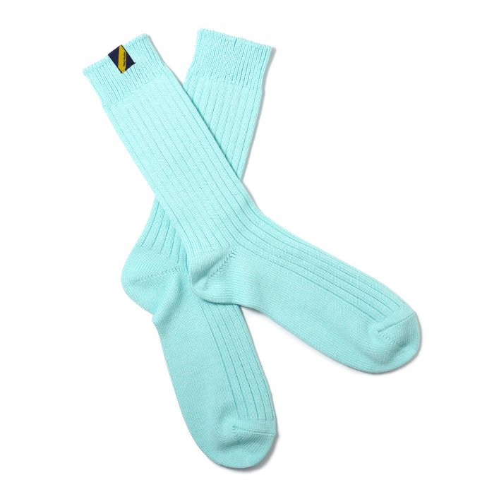 160476308 Trad Marks / Old Rib Socks lite オールドリブソックスライト - Sky Mint スカイミント 02