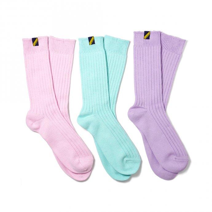 160476468 Trad Marks / Old Rib Socks lite オールドリブソックスライト - Lilac ライラック 02