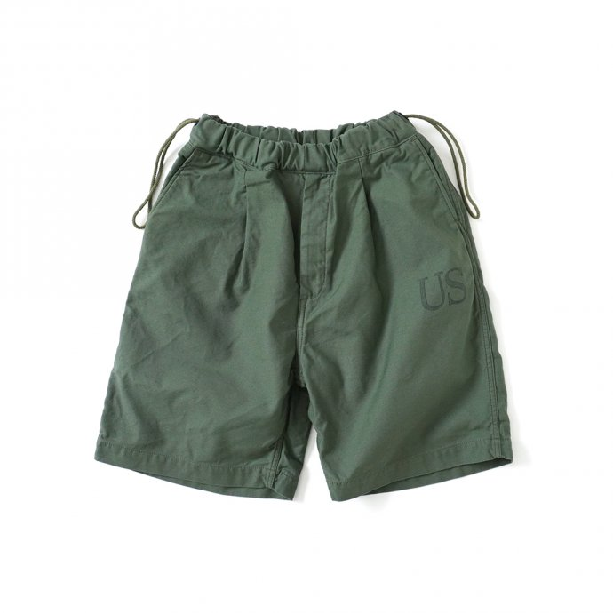 161798412 Hexico / Deformer Drawstring Short Pant Ex. U.S. Military Bags Barracks Deadstock リメイクショーツ - サイズ2-08 01