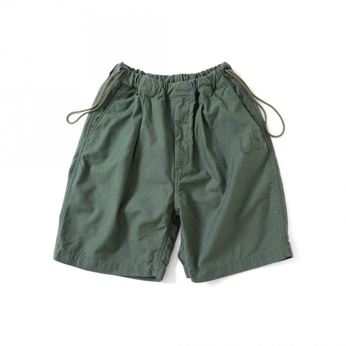 161798465 Hexico / Deformer Drawstring Short Pant Ex. U.S. Military Bags Barracks Deadstock リメイクショーツ - サイズ2-09 01