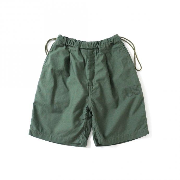 161798509 Hexico / Deformer Drawstring Short Pant Ex. U.S. Military Bags Barracks Deadstock リメイクショーツ - サイズ2-10 01