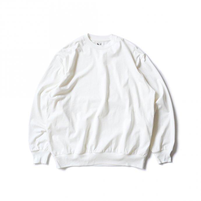162159592 blurhms ROOTSTOCK / Silk Cotton 20/80 Crew-neck BIG L/S - Off シルクコットンクルーネックカットソー ROOTS2107F21 01
