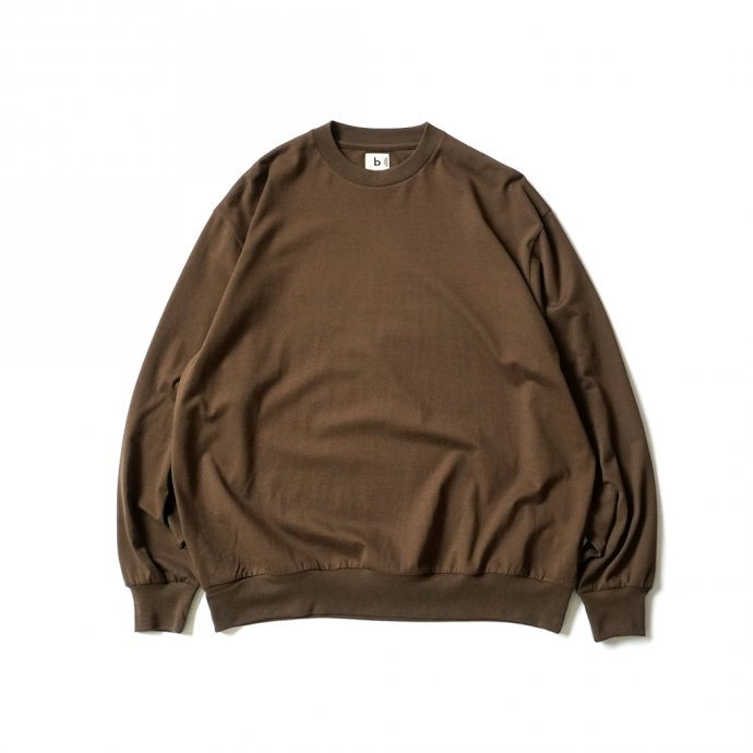 162159797 blurhms ROOTSTOCK / Silk Cotton 20/80 Crew-neck BIG L/S - KhakiBrown シルクコットンクルーネックカットソー ROOTS2107F21 01