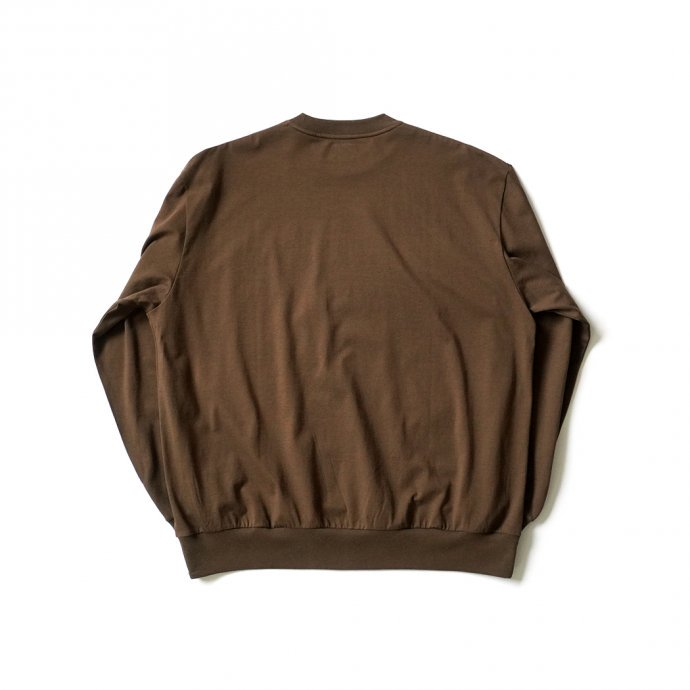 162159797 blurhms ROOTSTOCK / Silk Cotton 20/80 Crew-neck BIG L/S - KhakiBrown シルクコットンクルーネックカットソー ROOTS2107F21 02
