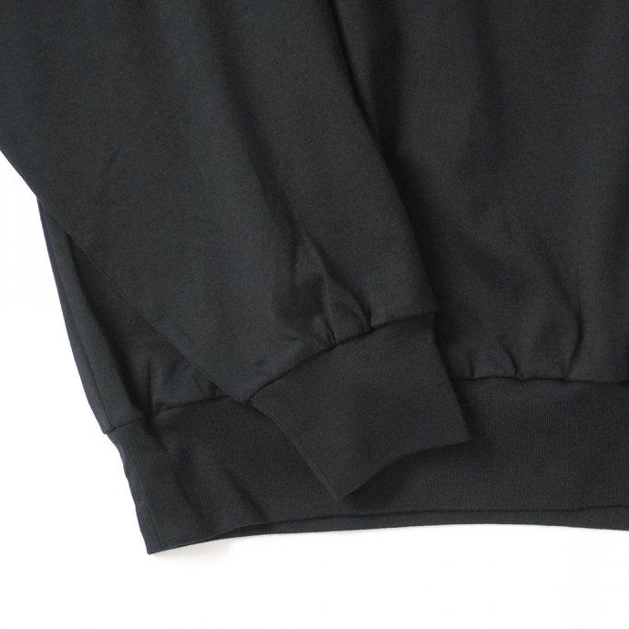 162159811 blurhms ROOTSTOCK / Silk Cotton 20/80 Crew-neck BIG L/S - Black シルクコットンクルーネックカットソー ROOTS2107F21 02