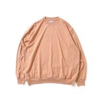 blurhms ROOTSTOCK / Silk Cotton 20/80 Crew-neck BIG L/S - PinkBeige シルクコットンクルーネックカットソー ROOTS2107F21