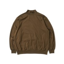 blurhms ROOTSTOCK / Silk Cotton 20/80 High-neck BIG L/S - KhakiBrown シルクコットンハイネックカットソー ROOTS21F15