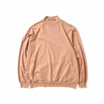 blurhms ROOTSTOCK / Silk Cotton 20/80 High-neck BIG L/S - PinkBeige シルクコットンハイネックカットソー ROOTS21F15