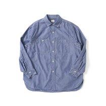 blurhms ROOTSTOCK / Classic Chambray Work Shirt - BlueNavy ROOTS21F7 シャンブレーワークシャツ