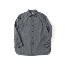blurhms ROOTSTOCK / Classic Chambray Work Shirt - TwistBlack ROOTS21F7 シャンブレーワークシャツ