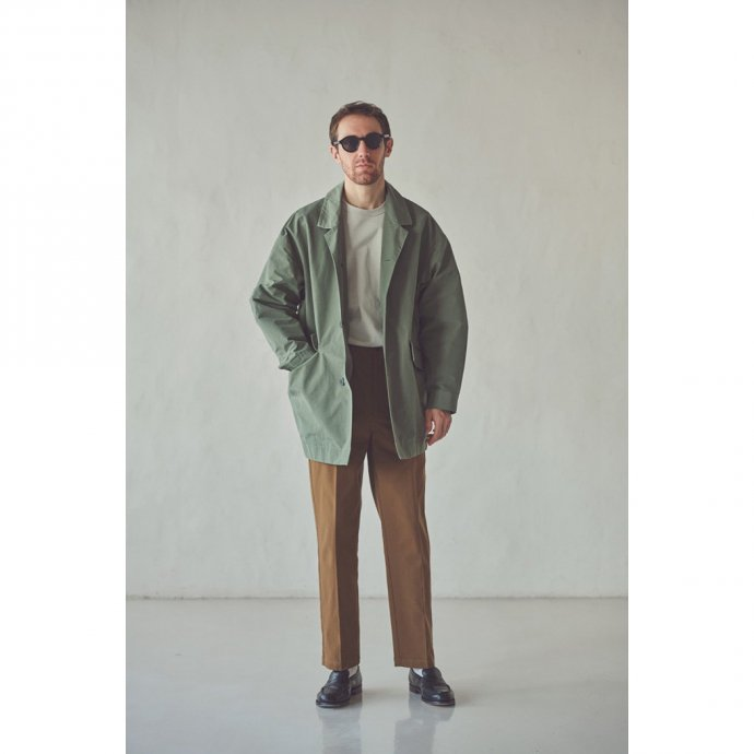 162219156 STILL BY HAND / CO01213 ラペルドコート - Olive 02
