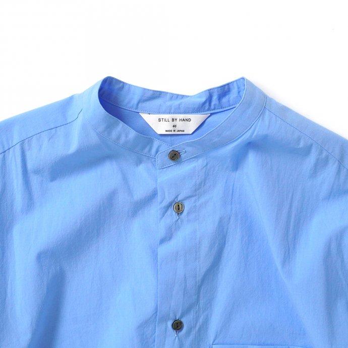 162219544 STILL BY HAND / SH04213 バンドカラーシャツ - Blue 02