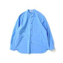 STILL BY HAND / SH04213 バンドカラーシャツ - Blue