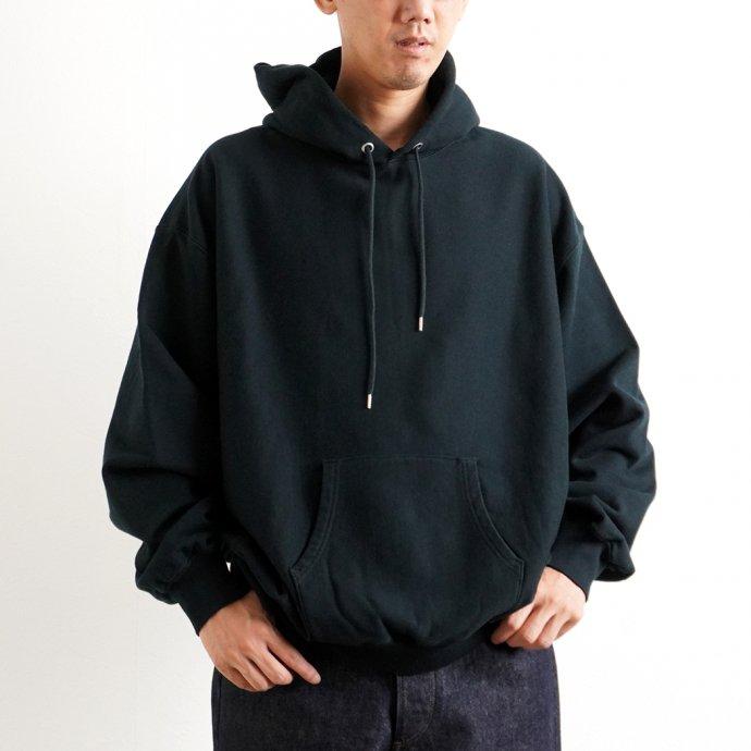 162941460 blurhms ROOTSTOCK / Soft & Hard Sweat Hoodie P/O Big - BlackGreen ROOTS21F17 02