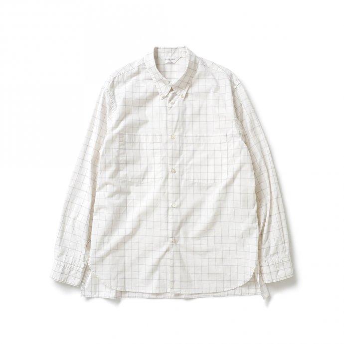 162988192 STILL BY HAND / SH01211 ボタンダウンシャツ - White Check 01