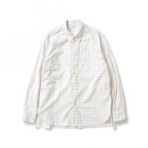 STILL BY HAND / SH01211 ボタンダウンシャツ - White Check