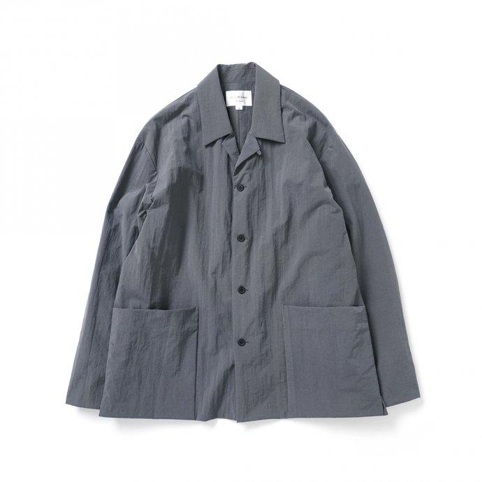 162988354 STILL BY HAND / BL02213 塩縮ナイロン カバーオールジャケット - Slate Grey 01
