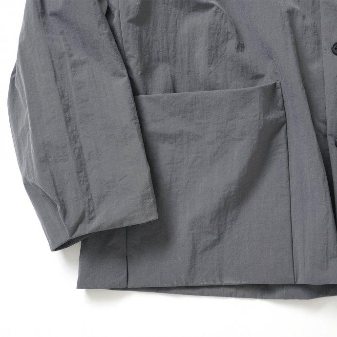 162988354 STILL BY HAND / BL02213 塩縮ナイロン カバーオールジャケット - Slate Grey 02