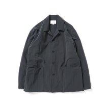 STILL BY HAND / BL02213 塩縮ナイロン カバーオールジャケット - Ink Black