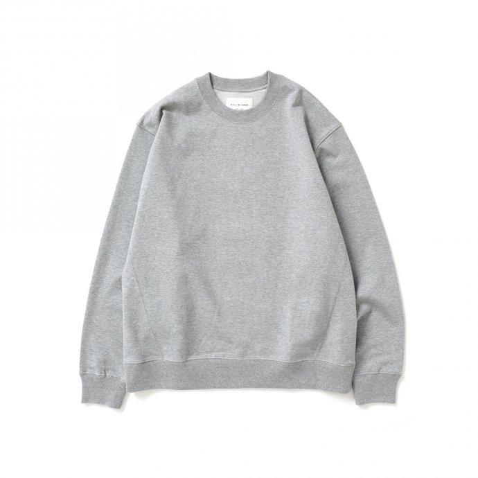 162988631 STILL BY HAND / CS01213 クルーネックスウェット - Grey 01