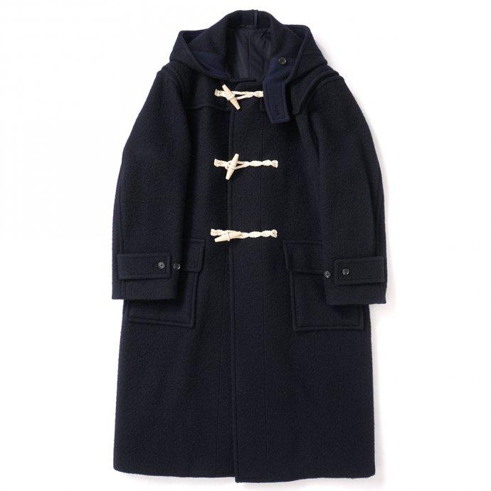 blurhms ROOTSTOCK / Wool Melton Duffle Coat - DarkNavy ROOTS21F1