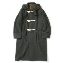 blurhms ROOTSTOCK / Wool Melton Duffle Coat - KhakiGrey ROOTS21F1