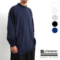LIFEWEAR Inc. / Mock Neck Long Sleeve Pocket T-Shirts ライフウェア モックネック長袖ポケットTシャツ 全5色