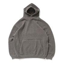 crepuscule / 2103-004 Moss stitch hoodie - Khaki ミックス鹿の子編みフーディー カーキ