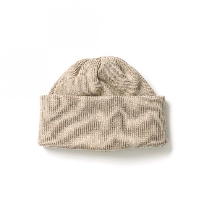 crepuscule / 2103-010 knit cap - Beige ニットキャップ ベージュ