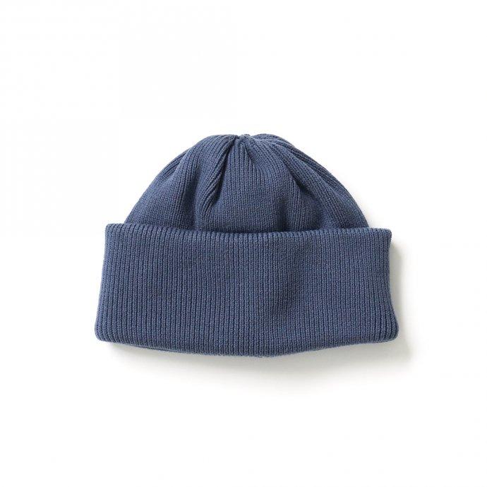 crepuscule / 2103-010 knit cap - Blue ニットキャップ ブルー