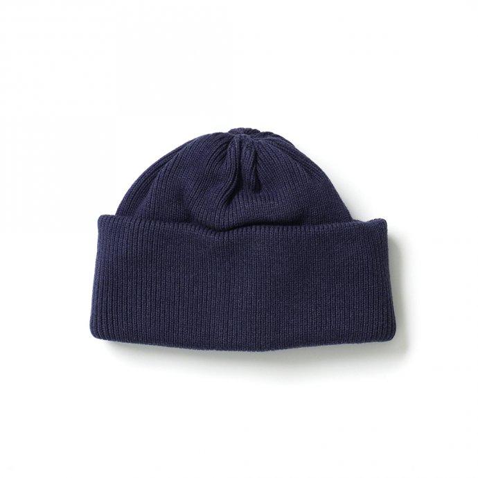 crepuscule / 2103-010 knit cap - Navy ニットキャップ ネイビー