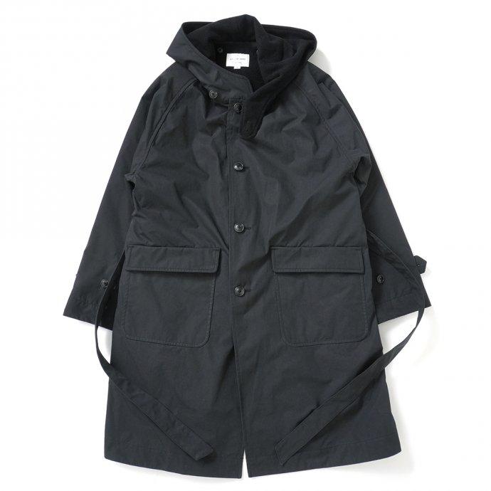 163474154 STILL BY HAND / CO02213 ウールライナー フーデッドコート - Black 01