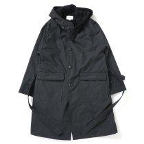 STILL BY HAND / CO02213 ウールライナー フーデッドコート - Black