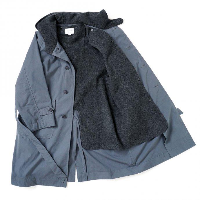 163474170 STILL BY HAND / CO02213 ウールライナー フーデッドコート - Blue Grey 02