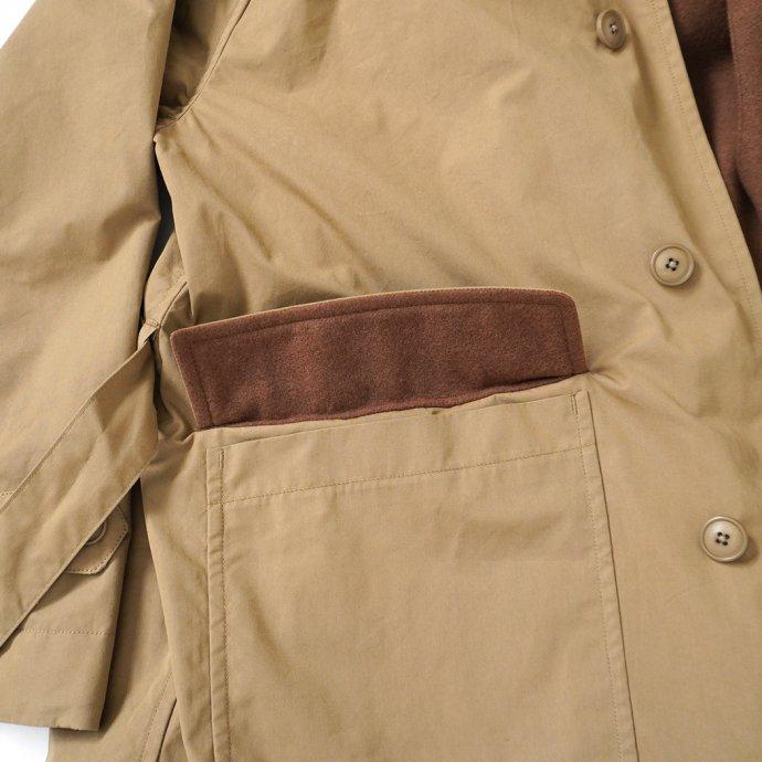 163474190 STILL BY HAND / CO02213 ウールライナー フーデッドコート - Beige 02