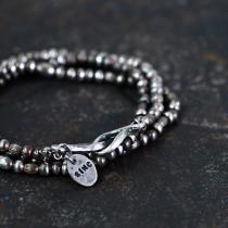 sinc / Silver Beads Necklace - Short
