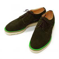 This is... / Suede Derby Shoe スウェード プレーントゥ - Olive