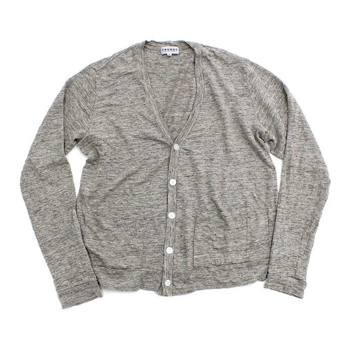 73309331 TAURUS / Linen Jersey Cardigan リネン天竺カーディガン - Grey 01