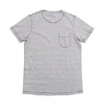 TAURUS / Flat Seamed Pocket Tee ボーダーポケットTシャツ - Grey Stripe<img class='new_mark_img2' src='https://img.shop-pro.jp/img/new/icons20.gif' style='border:none;display:inline;margin:0px;padding:0px;width:auto;' />