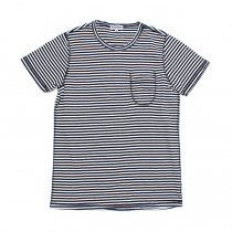 TAURUS / Flat Seamed Pocket Tee ボーダーポケットTシャツ - Navy Stripe<img class='new_mark_img2' src='https://img.shop-pro.jp/img/new/icons20.gif' style='border:none;display:inline;margin:0px;padding:0px;width:auto;' />