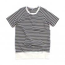 TAURUS / S/S Crewneck Stripe Tee ボーダーポケットTシャツ - Navy/White<img class='new_mark_img2' src='https://img.shop-pro.jp/img/new/icons20.gif' style='border:none;display:inline;margin:0px;padding:0px;width:auto;' />